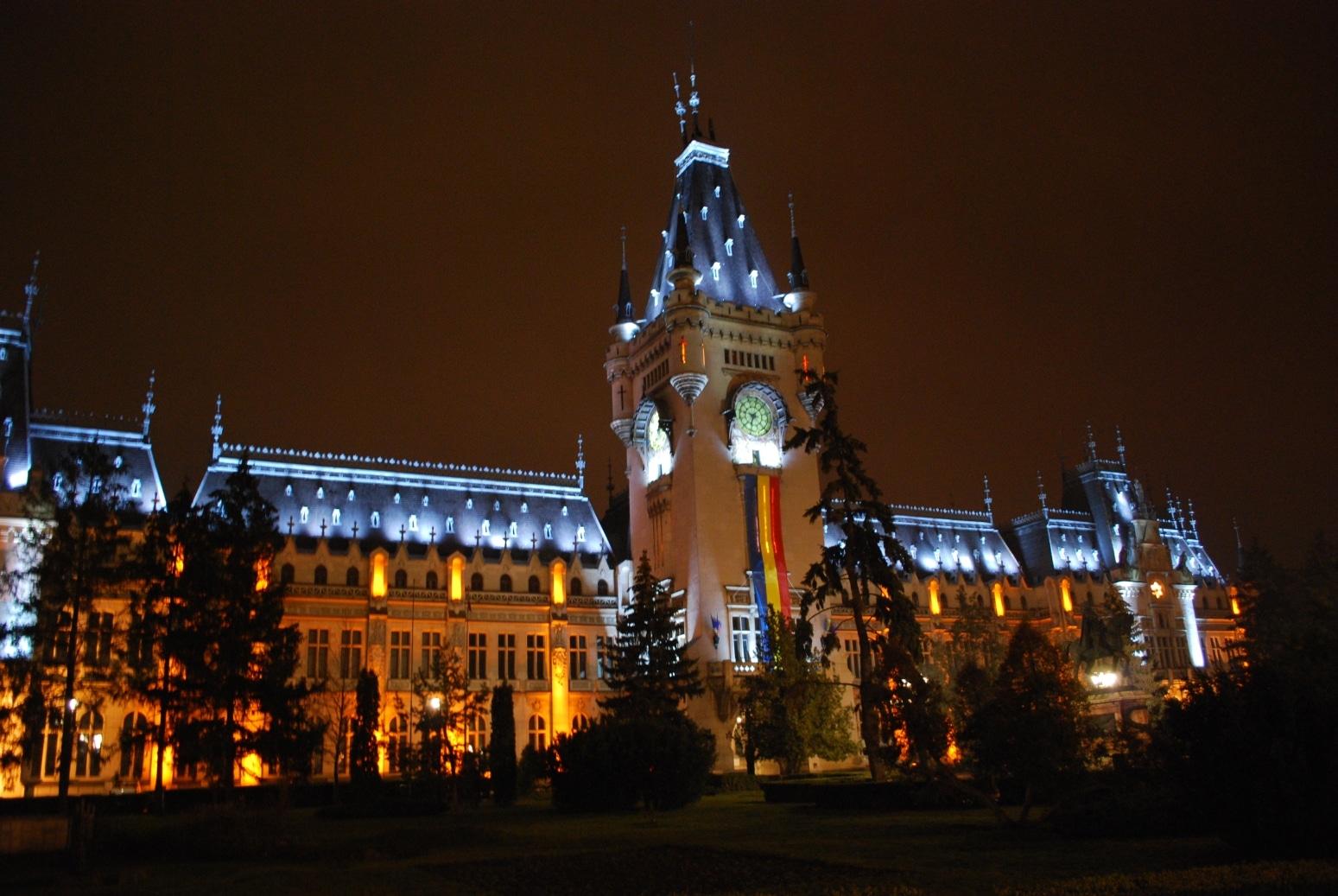 Palatul Culturii, noaptea