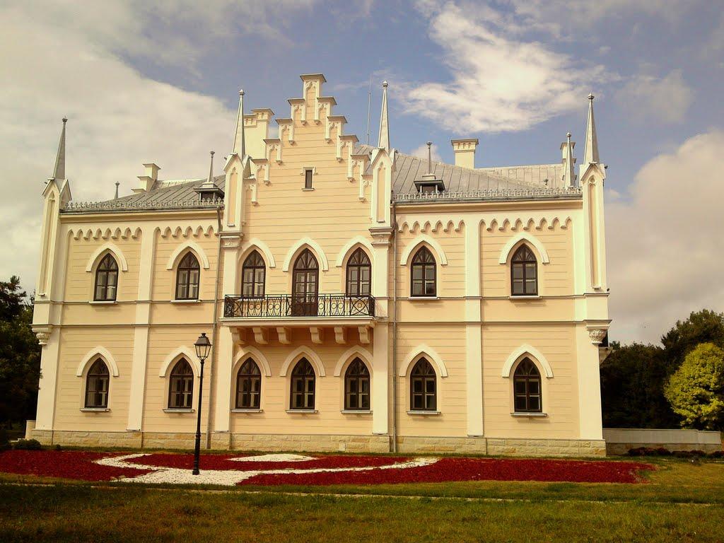Palatul de la Ruginoasa - Curtea din spate