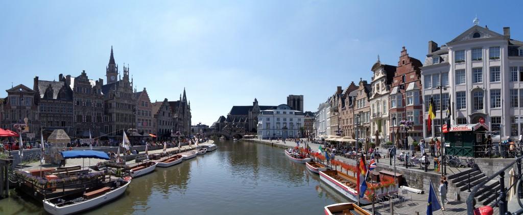 Panorama Centrului Vechi din Ghent
