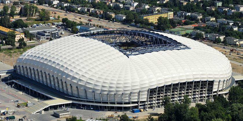 Stadionul din Poznan care a găzduit  Campionatul European de Fotbal  2012