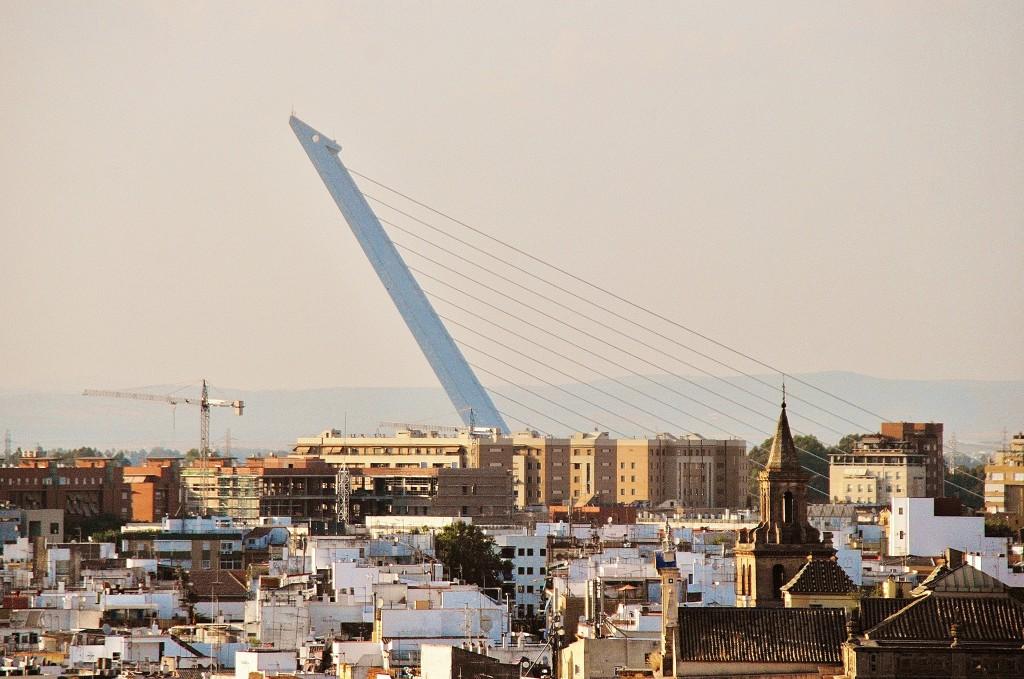 Puente del Alamillo este vizibil aproape din orice parte a orașului datorită înălțimii sale