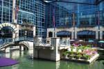 River walk se întinde și printre clădirile orașului