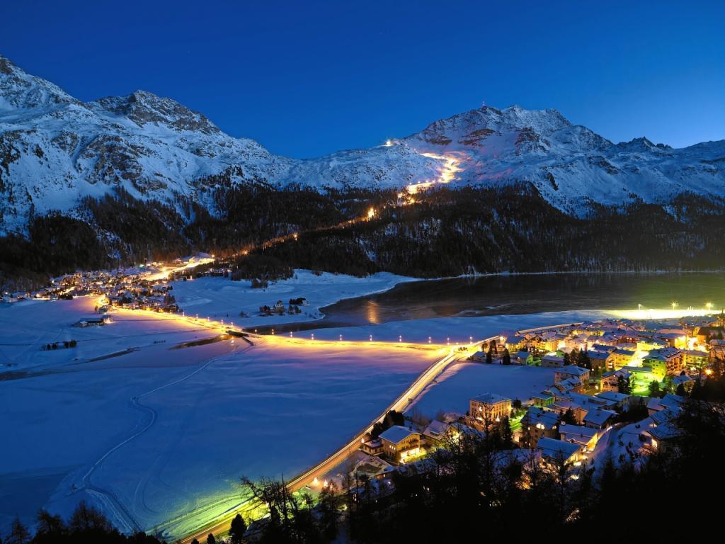 Saint Moritz, noaptea