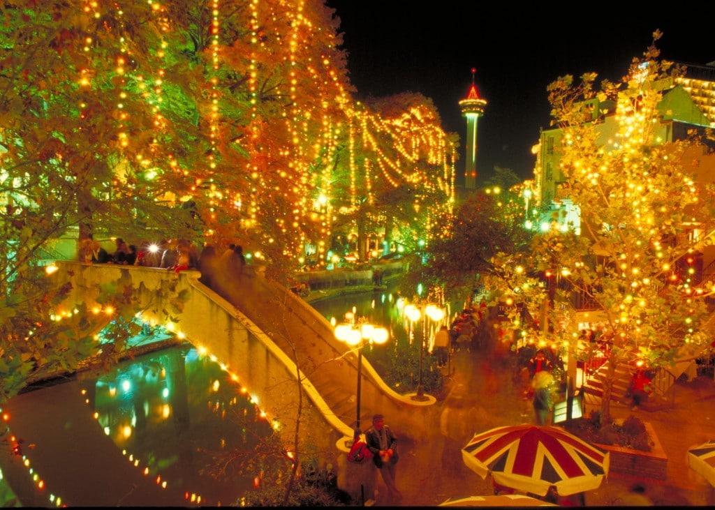 San Antonio River Walk de Crăciun