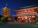 Templele din Asakusa alcătuiesc un orizont splendid