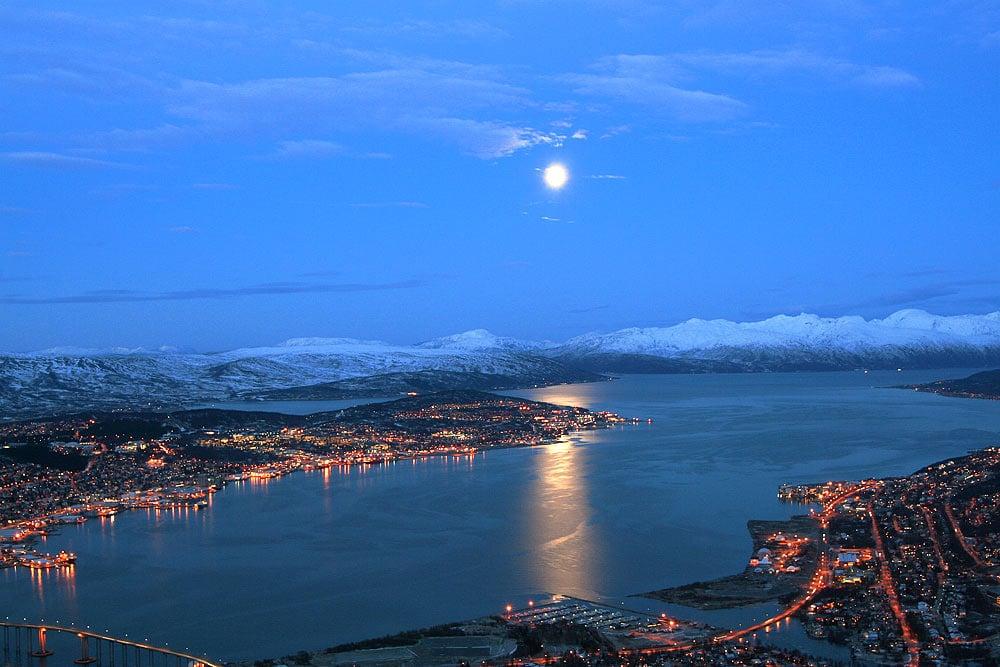 Tromso. într-o seară rece de iarnă
