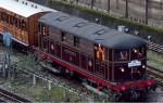 Una din primele locomotive electrice din subteran