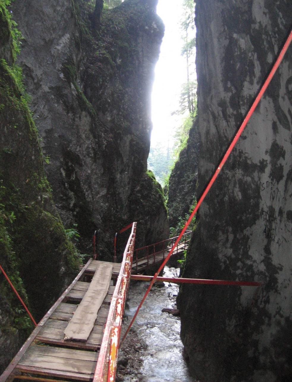 Podeţ de trecere din Canionul 7 Scări