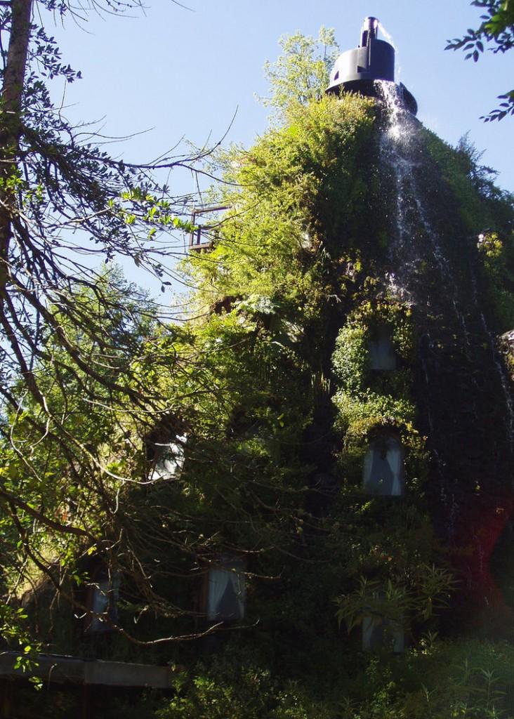 Vara hotelul este acoperit aproape complet de verdeață