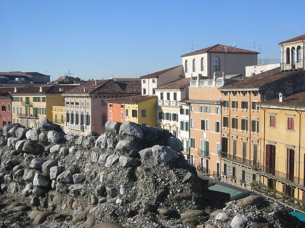 Verona, vedere din vârful arenei romane