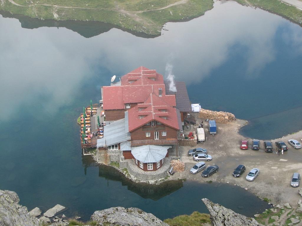 Cabana Bâlea Lac văzută de sus
