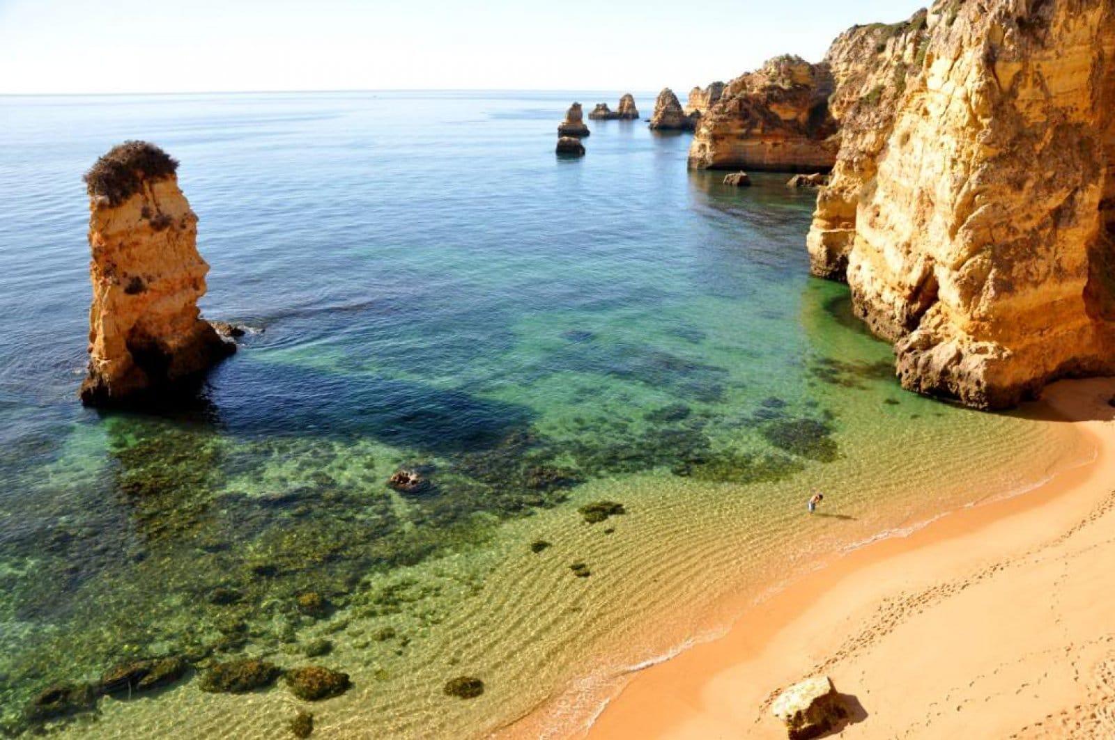 Plajă din Lagos, Algrave, Portugalia