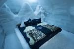 Camere de gheaţă cu pături şi blănuri pentru un somn liniştit