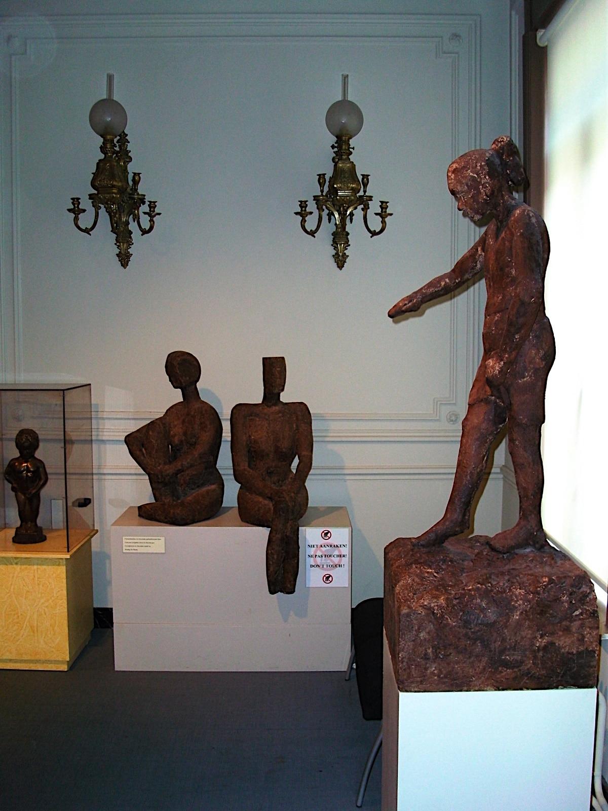 Sculpturi de ciocolată din cadrul Muzeului de Ciocolată, Bruges