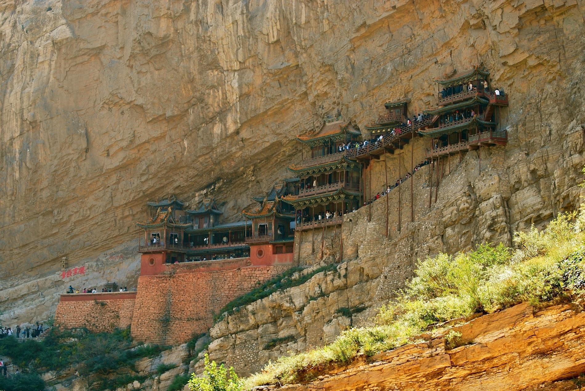 Templul Suspendat din Datong, provincia Shanxi, China