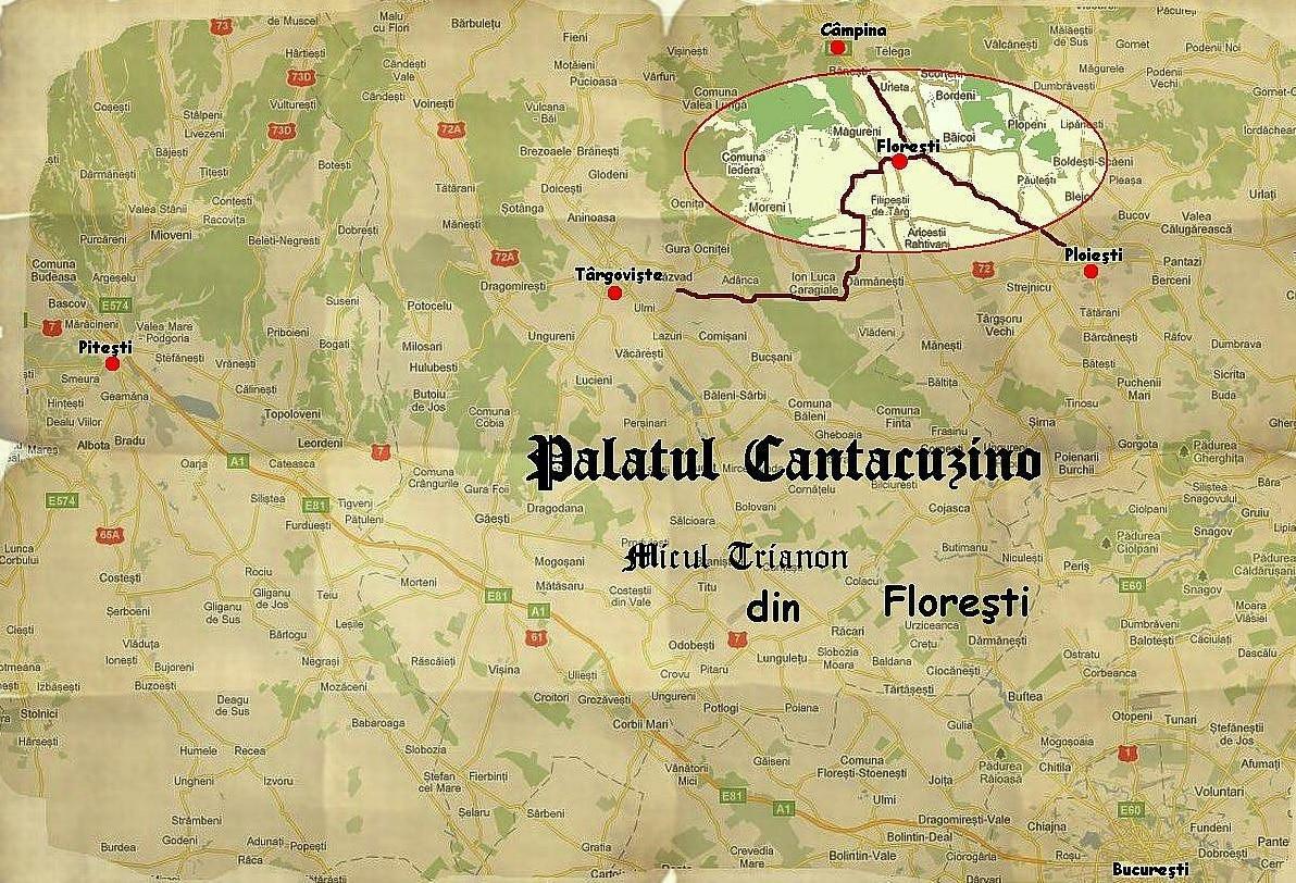 Harta gtraseului de la București la Florești