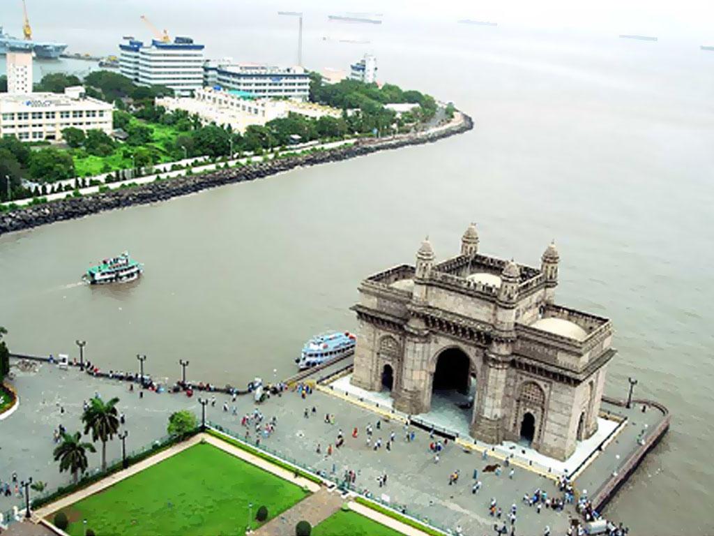 Poarta Indiei văzuta de sus