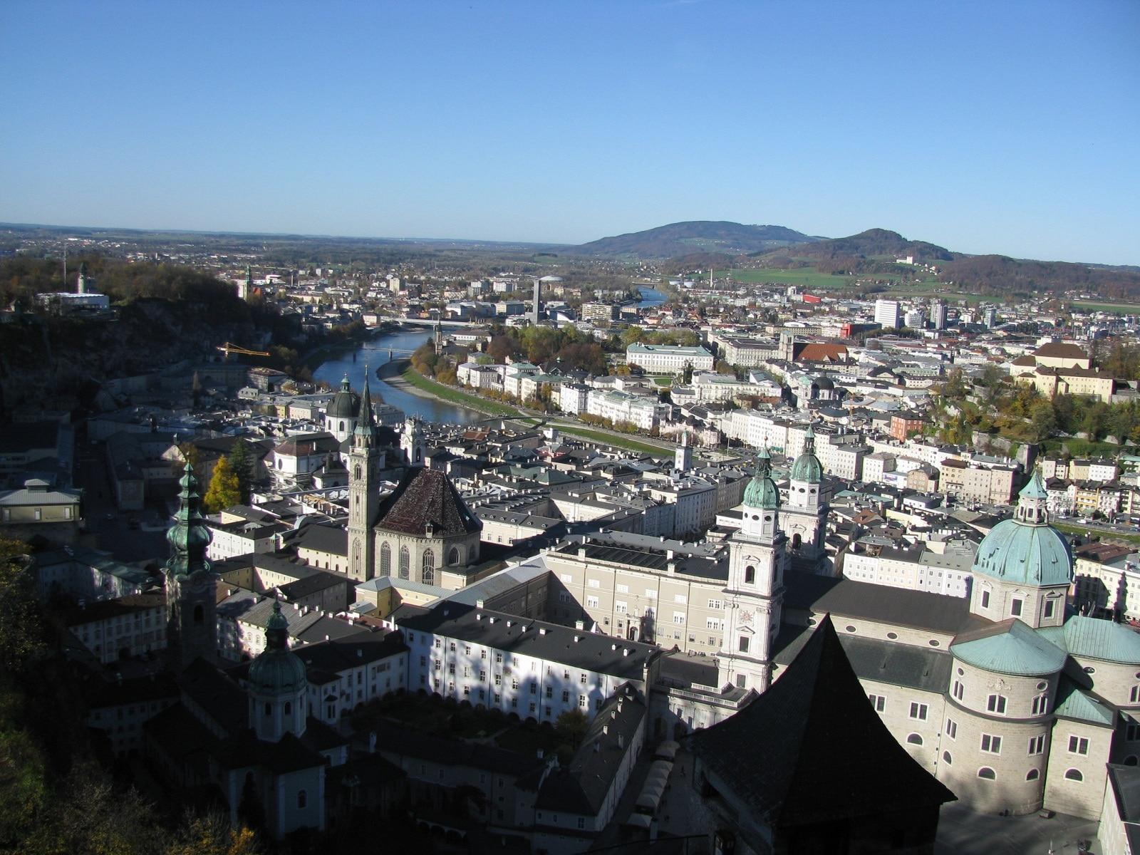 Vedere din fortareaţa Hohensalzburg