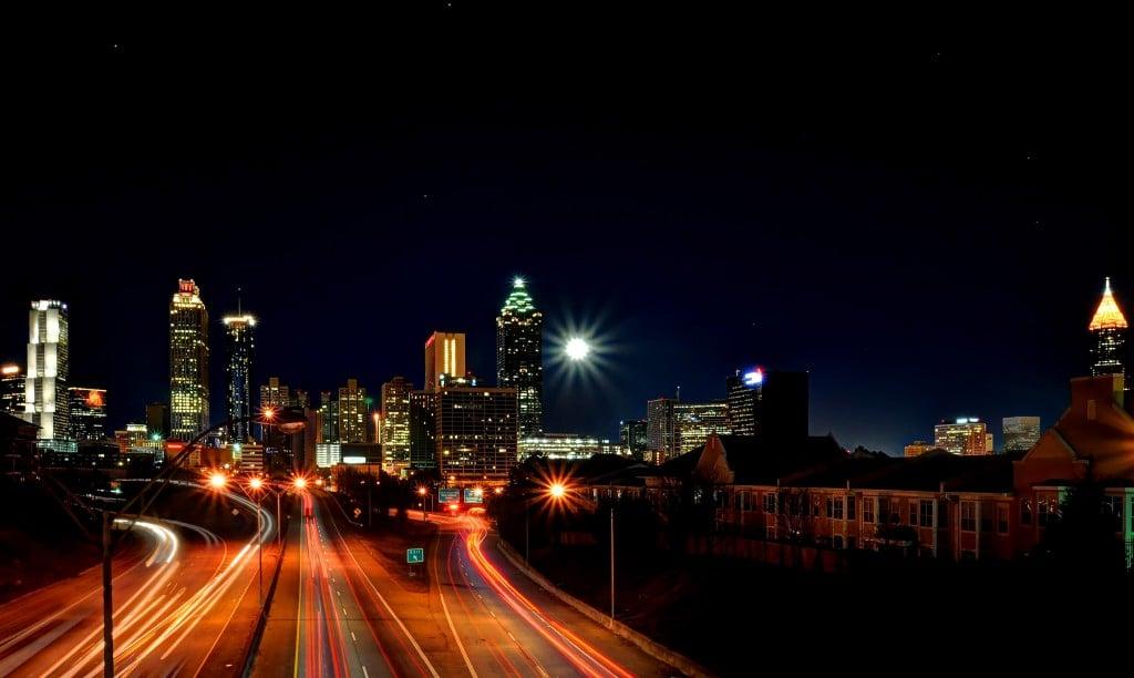 Atlanta pe timp de noapte, o frumusețe