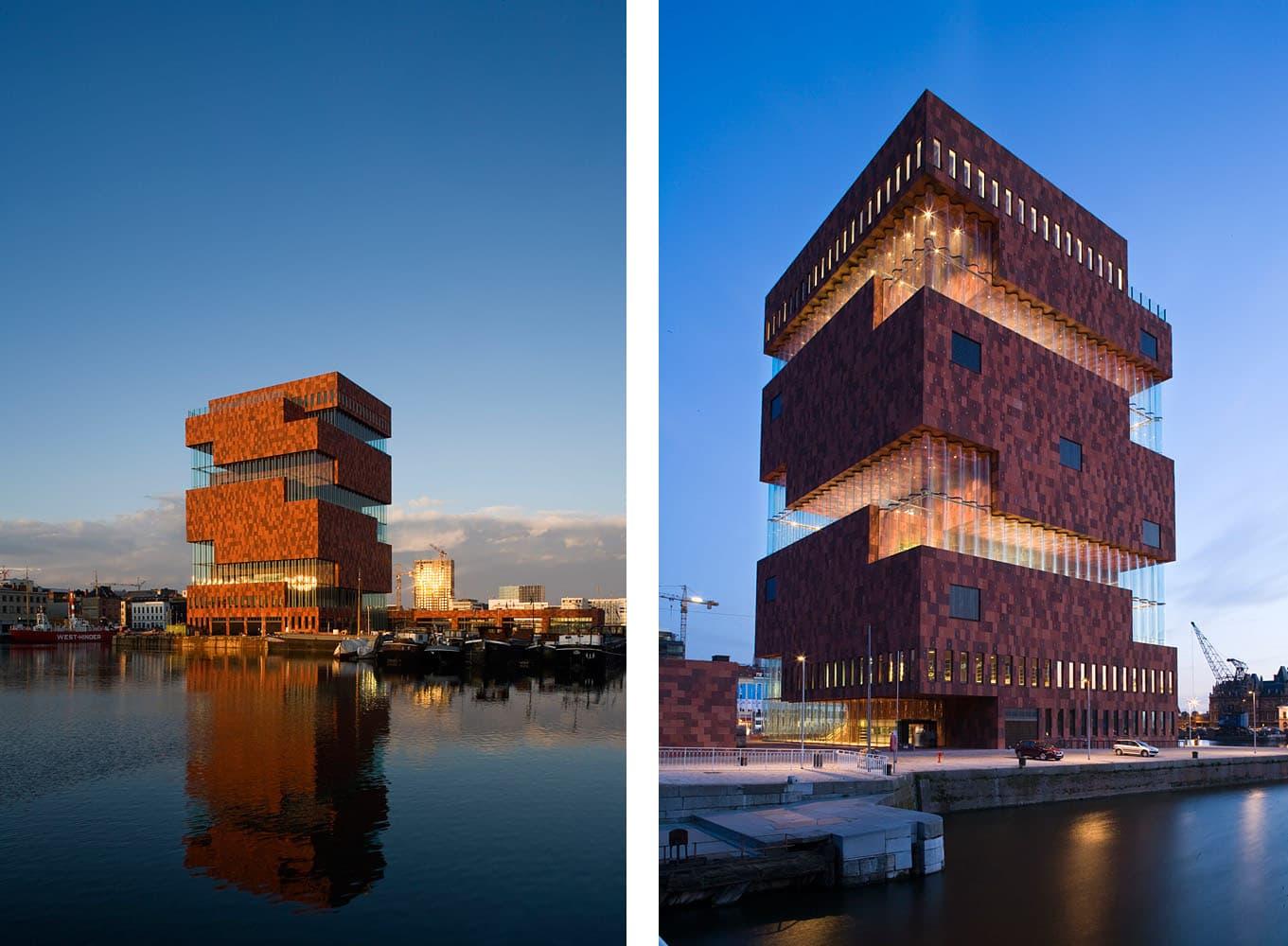 Museum Aan de Stroom (MAS), o construcție impresionantă de zece etaje