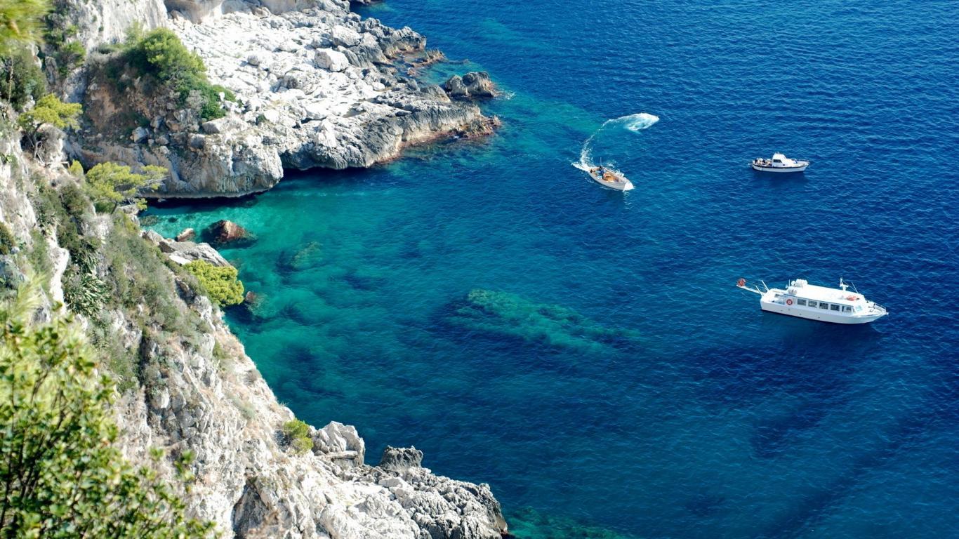 Capri, zona de coastă
