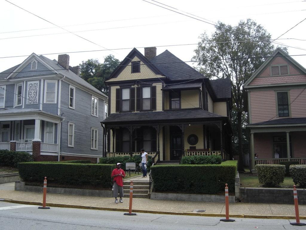 Casa unde s-a născut Martin Luther King, cel care schimbat gândirea despre oamenii de culoare