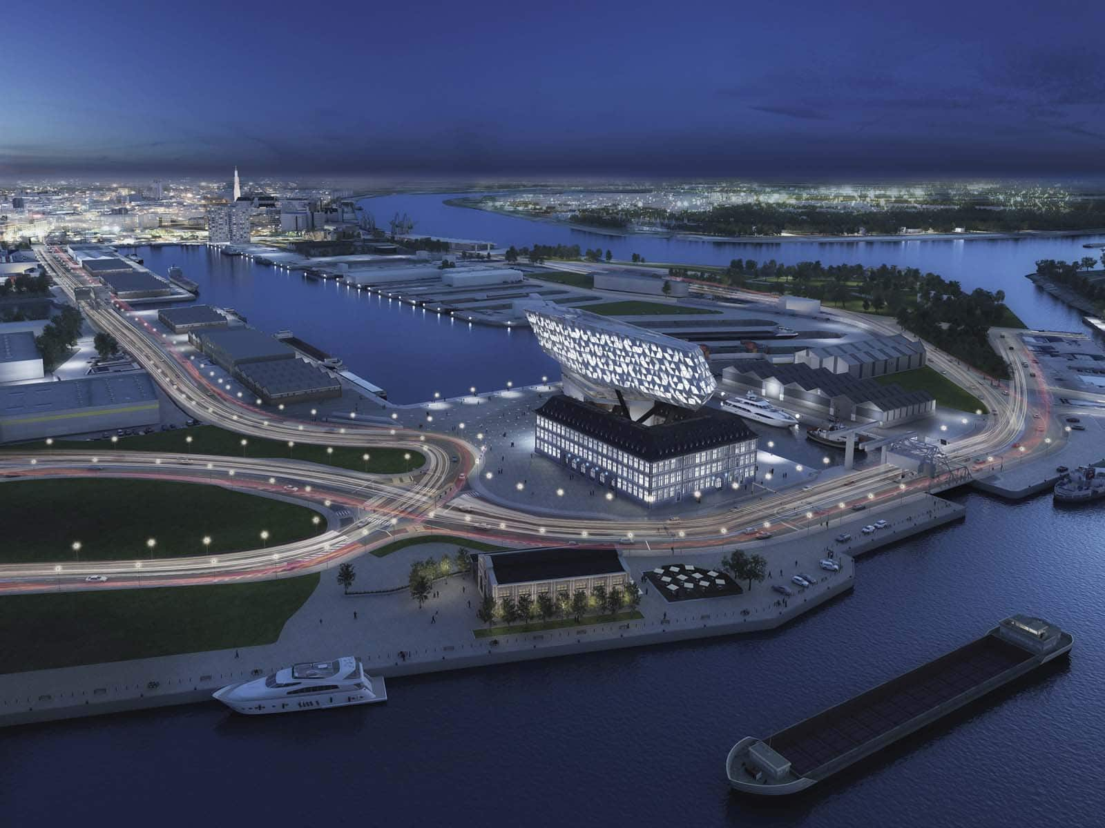 Așa va arăta portul orașului Antwerp în anul 2014