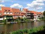 Edificiile din Bamberg urmează aceeași linie de construcție