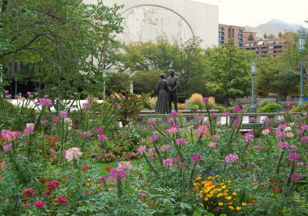 Grădină cu flori în Salt Lake City