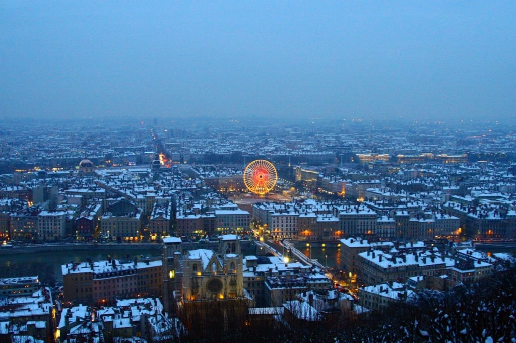 Imagine de iarnă din Lyon