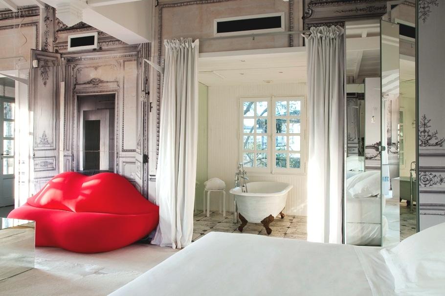 Cameră chic din Les Source des Caudalies, Bordeaux, Franța