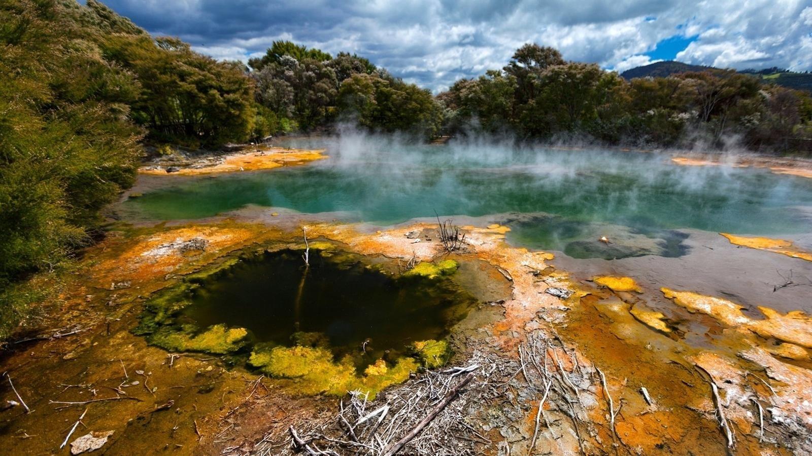 O parte dintre izvoarele din Rotorua nu sunt accesibile