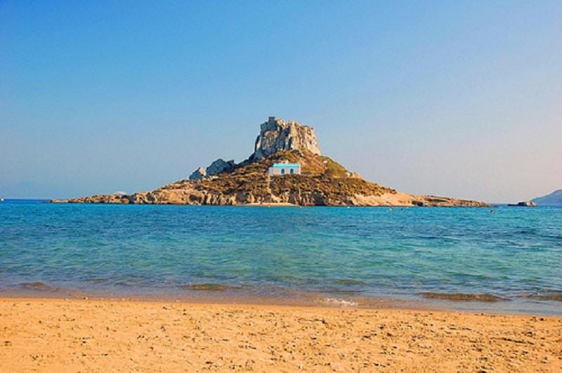Plaja Agios Stefanos din Insula Kos
