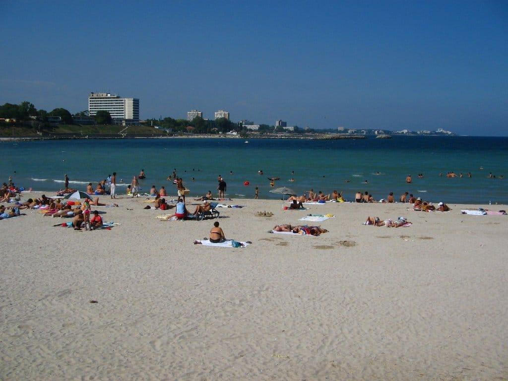 Plaja din Mangalia este una dintre cele mai bune de pe litoral