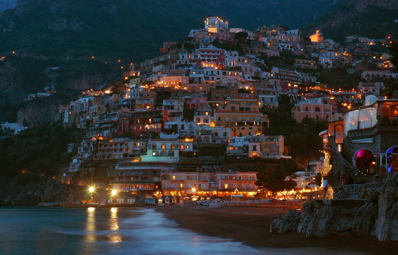 Positano, într-o seară liniștită de vară