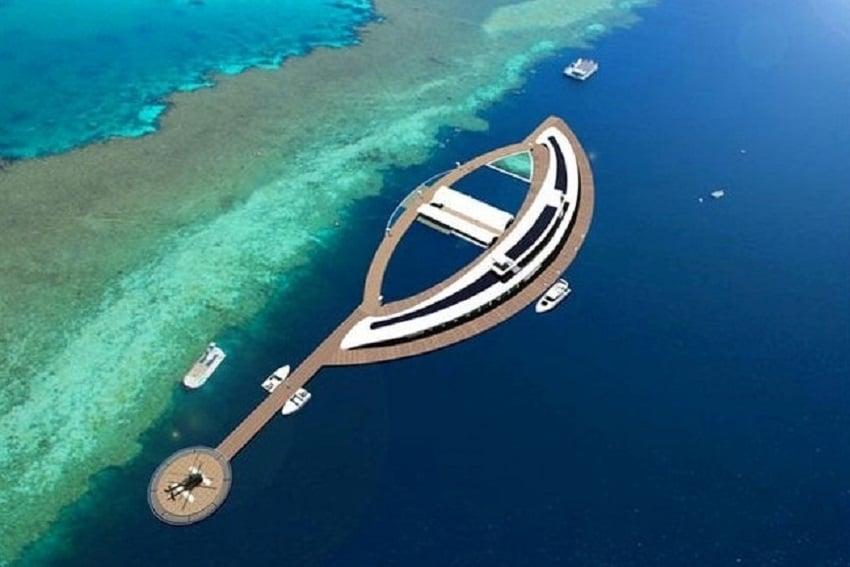 Hotelul subacvatic Reefworld situat exact lângă Marea Barieră de Corali