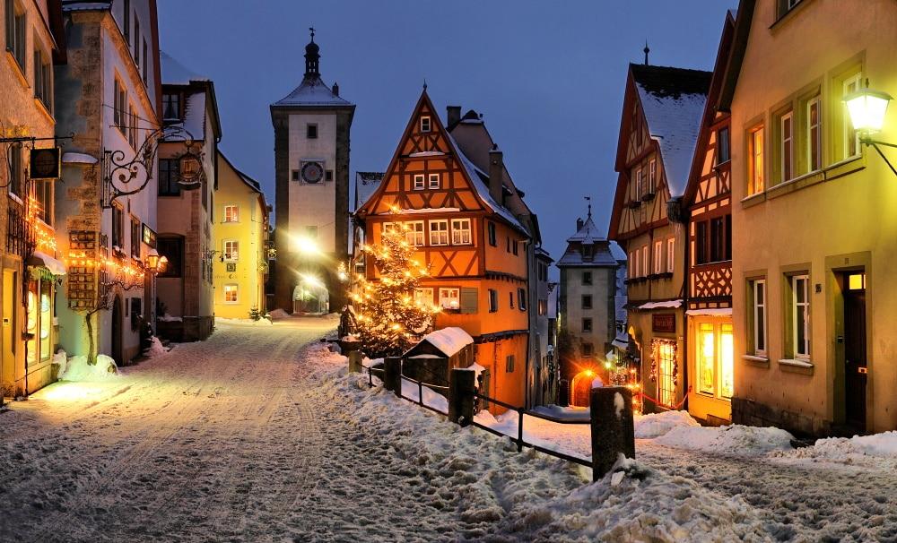 Rothenburg ob der Tauber, iarna