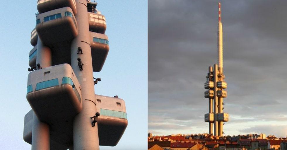 Turnul Televiziunii - cel mai înalt turn din  Praga care oferă o panoramă unică