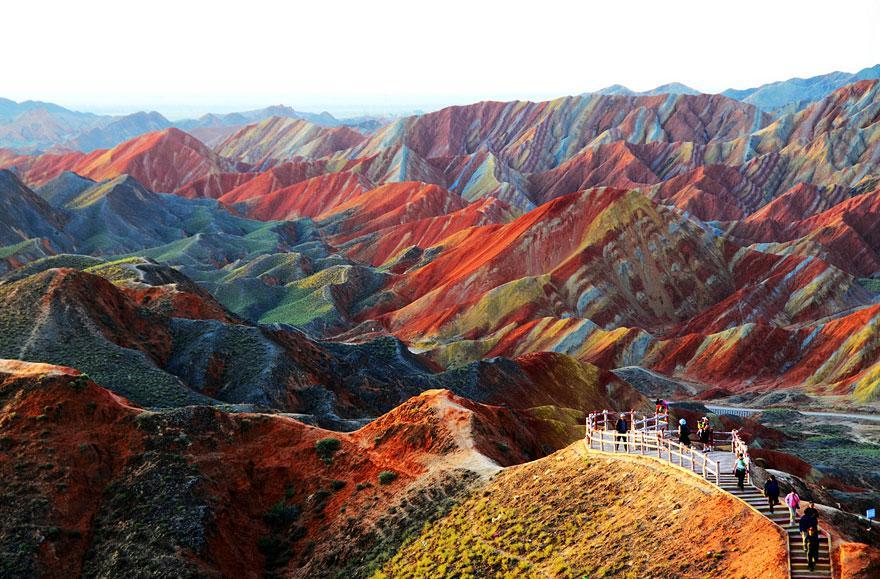 Zhangye Danxia, unul dintre cele mai spectaculoase locuri din lume