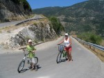 Serpentine ideale pentru mountain bike ăn Lefkada