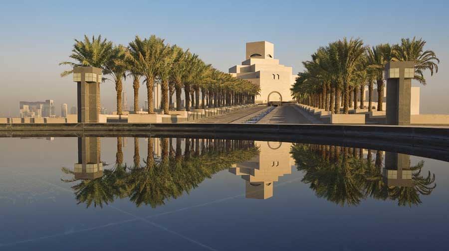 Muzeul de Arte Islamice - așezat pe o insulă creată special pentru acesta