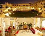Apartament și fațada Hotelului Raj Palace, Jaipur