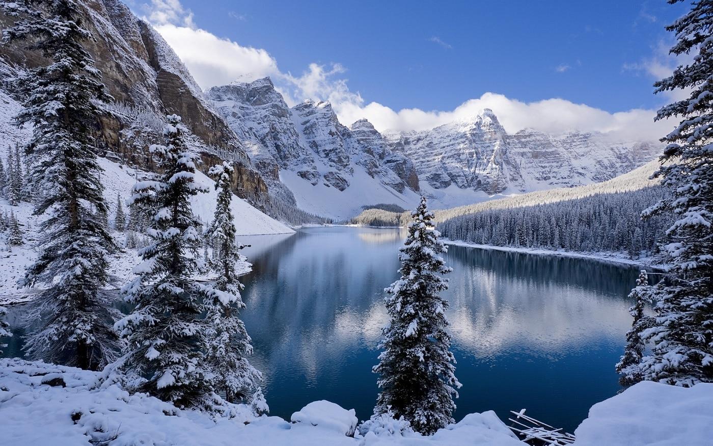 Lacurl Moraine, iarna