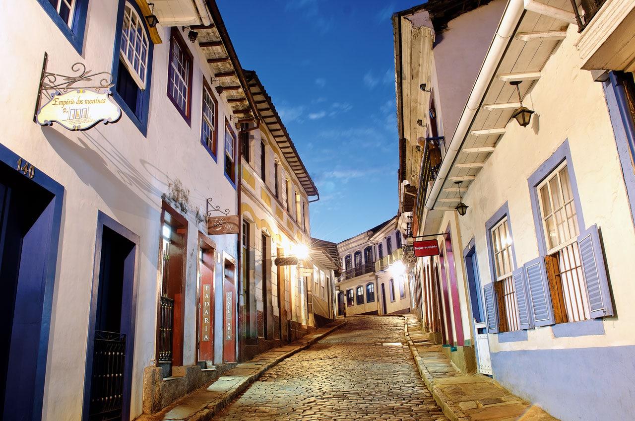 O parte din străduțele din Ouro Preto sunt foarte înguste