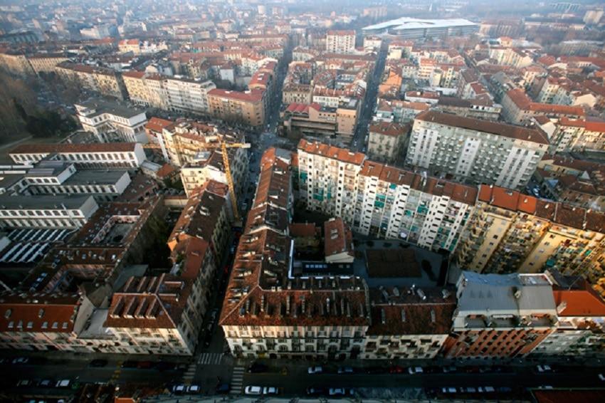 Panorama asupra orașului vazuta din balconul  Muzeului de Cinema