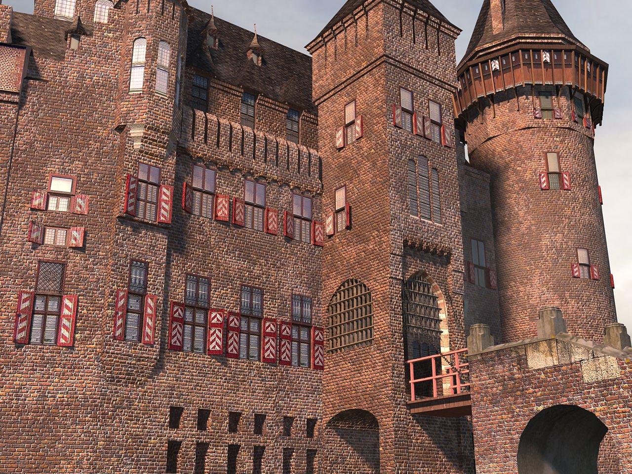 Castelul De Haar, detalii arhitecturale