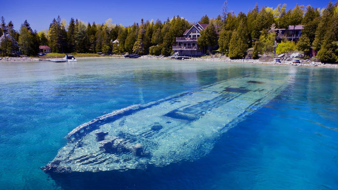 Sweepstakes, epava din Lacul Ontario