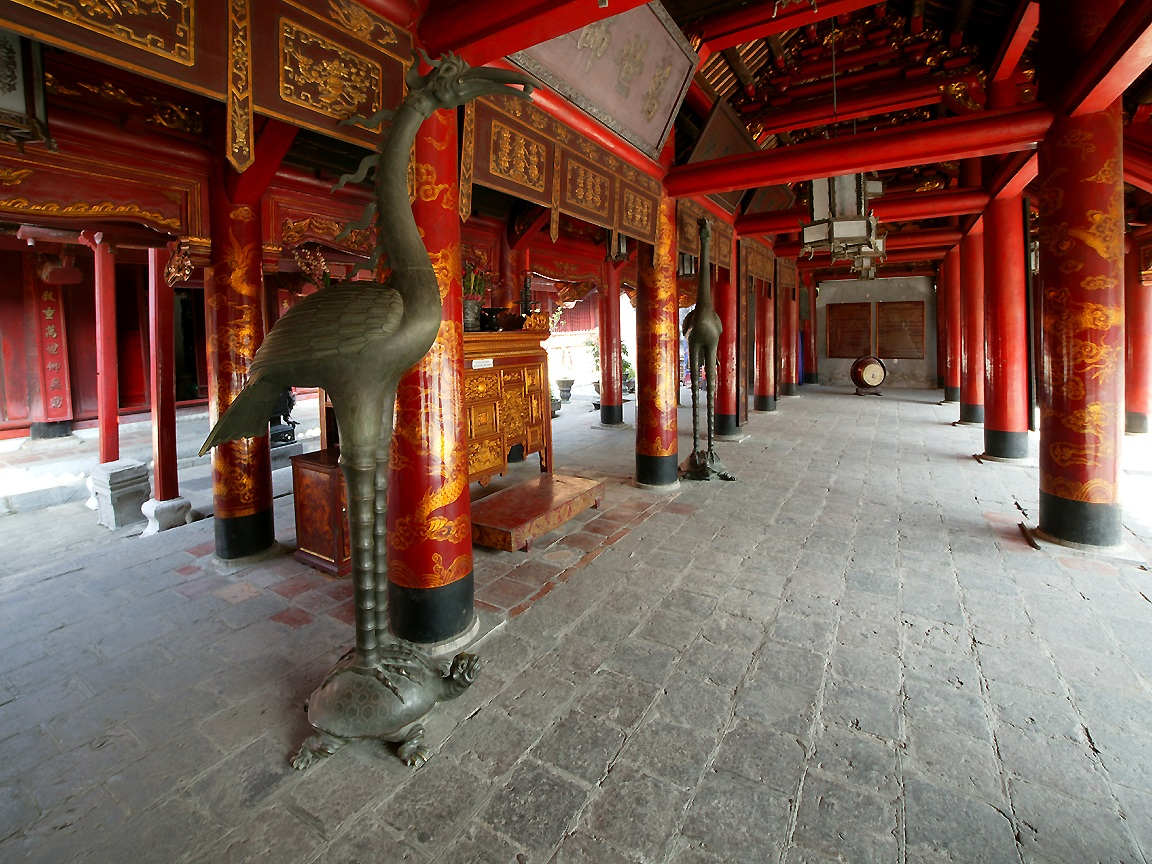 Templul Literaturii, interior