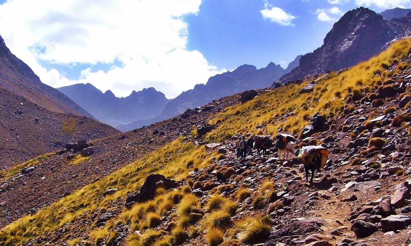 Locuitorii din Munții Atlas duc o viață destul de grea