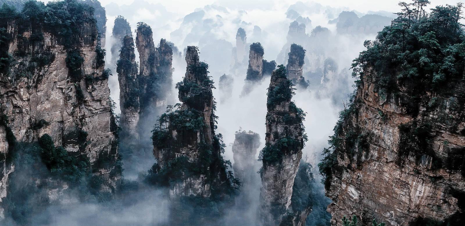 Munții Tianzi, China